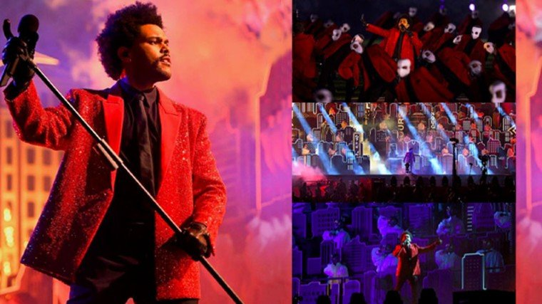 The Weeknd said that parts of his performance   were influenced by Michael Jackson's 1993 Super Bowl gig and Diana Ross's performance at the Super Bowl XXX halftime show in 1996.