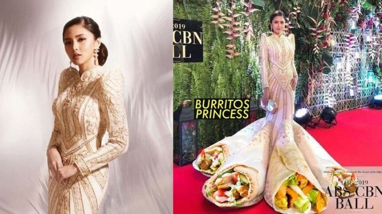Kim Chiu shared the story behind her Filipiniana gown on her vlog and she has something to say about the memes created after her gown!