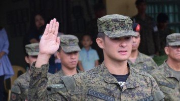 Matteo Guidicelli officially joins Philippine Army