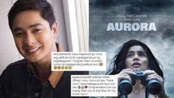 "Coco Martin praises MMFF entries ""Aurora"" and ""Fantastica"""