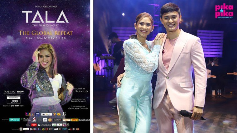 Muling mapapanood ang back-to-back worldwide encore ng best-selling at world-wide trending na Tala The Film Concert sa ktx.ph, iWantTV, and iWantTFC on May 1 (Saturday) at 8PM PHT and May 2 (Sunday) at 11AM PHT. Tickets are prized  at P1, 000.00.
