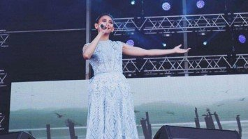 Sarah Geronimo performed at the Papal visit in UAE