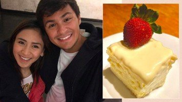 Pika's Pick: Matteo Guidicelli beams with pride as she shares photo of wife Sarah's dessert creation made just for him; adds that she also cooked him dinner.