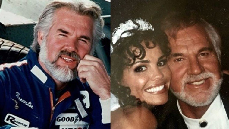 (Right Photo) Kenny Rogers with his wife of 22 years, Wanda Miller.