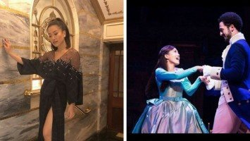 Rachelle Ann Go performs for Prince Harry and Meghan Markle in West End