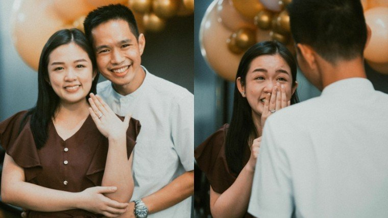 """Trina """"Hopia"""" Legaspi, best known for her time as a child star in Goin' Bulilit, shared the blissful news of her engagement!"""