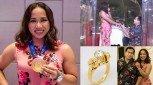 Engagement ring ni Hidilyn Diaz, hugis barbell!