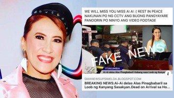 Pika's Pick: Ai-Ai delas Alas, tinawanan lang ang death hoax; buti nalang daw at maganda siya sa ginamit na picture pang-clickbait