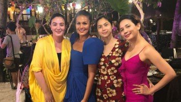 Celebrity guests at Iza Calzado and Ben Wintle's Palawan wedding