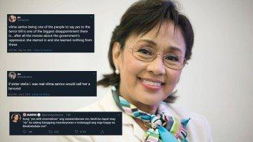 Rep. Vilma Santos slammed by celebrities and netizens for her vote over 'Anti-Terror' Bill