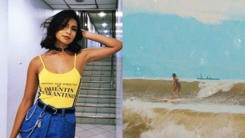 Glaiza De Castro reflects on surfing in Baler, says it lessens depression and anxiety caused by the COVID-19 pandemic