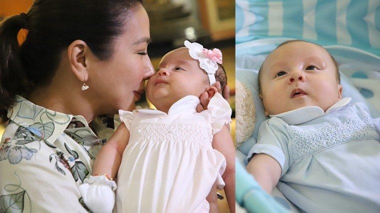 Say hello to Korina and Mar's twins Pilar and Pepe!