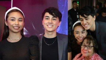 """""""Feeling ko ang ganda-ganda ko po dahil po hanggang ngayon po'y nililigawan po [niya] ang mga family ko.""""—Maymay on the status of her relationship with Edward"""