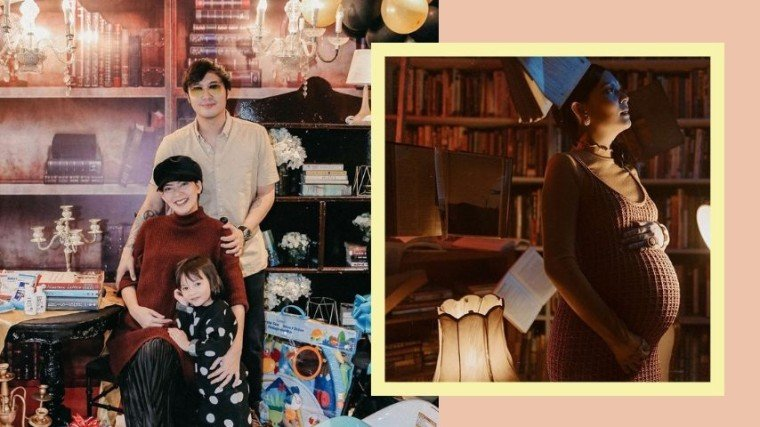 Chynna Ortaleza's library-inspired baby shower and maternity shoor with husband Kean and firstborn Stellar.