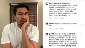 Luis Manzano invited a basher to witness his game show