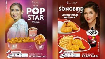 """Witty fan-made """"Popstar Meal"""" poster ni Sarah Geronimo at """"Songbird Meal"""" ni Regine Velasquez, naglipana online"""