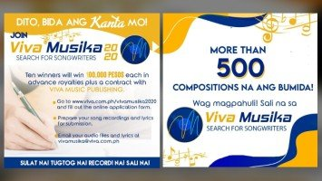 Viva Musika Search for Songwriters, dinagsa ng entries