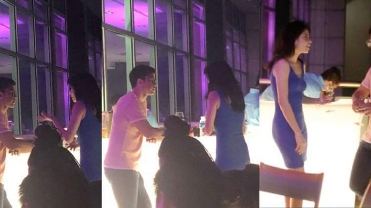 Derrick Monasterio and Kelly Day were inseparable on the night of October 23.