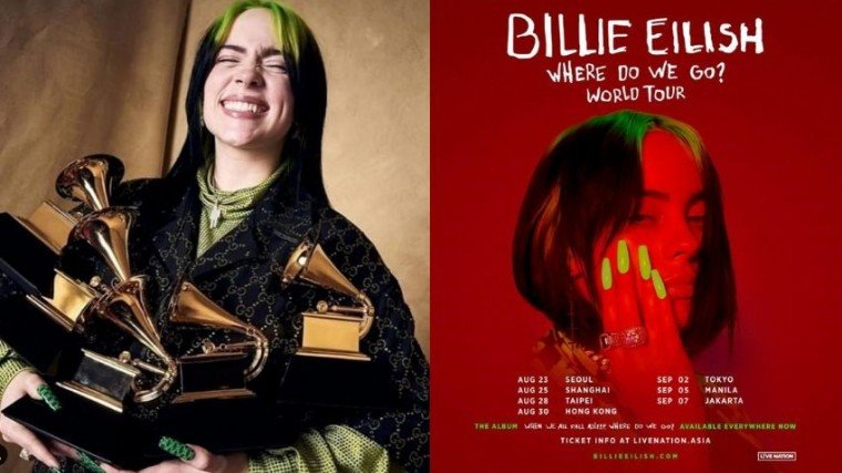 """Bukod sa Album of the Year, nauwi rin ni Eilish ang apat pang biggest awards ng Grammy: Best New Artist, Record of the Year, Song of the Year (""""Bad Guy""""), and Best Pop Vocal Album. Eilish also became the first woman and second person ever to win record of the year, album of the year, song of the year and best new artist in the same year."""