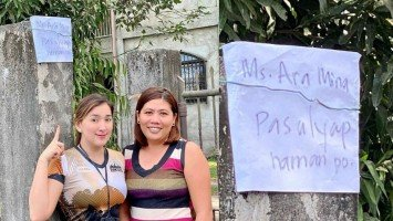 Pika's Pick: Ara Mina grants fan wish posted on her gate in Batangas