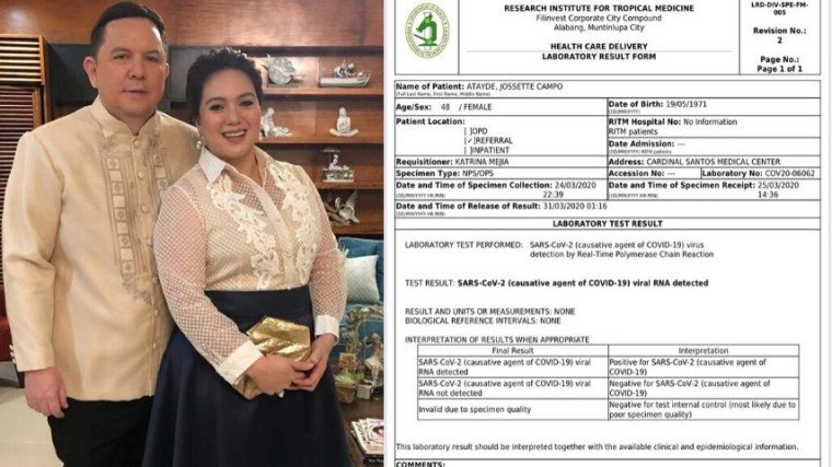 Sylvia Sanchez and husband Art Atayde tested positive for COVID-19!