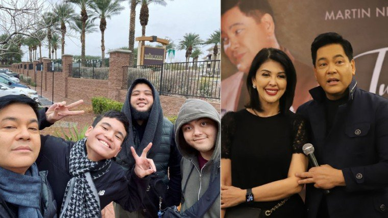 """Ayon kay Martin, hindi lang si Santino kundi ang dalawa din niyang anak kay Pops Fernandez na sina Ram at Robin ay pawang maituturing na mas talented pa kaysa sa kanilang mga magulang. """"All my kids are more talented than me,"""" walang-halong selos na say ni Martin. """"Robin plays an instrument, we [Pops and I] don't. Robin's voice and Ram's voice? They have a higher range than me. You haven't heard Ram sing yet. Oh my God, someone who saw him in our show said, 'That kid should be in The Voice.' """"You know what, I never even thought of because Ram is not serious about his singing. Santino is another one. They're all pitch perfect. I am not. She [Pops] is not."""""""