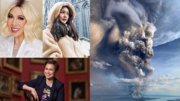 Celebrities hope for safety for people affected by Taal Volcano eruption