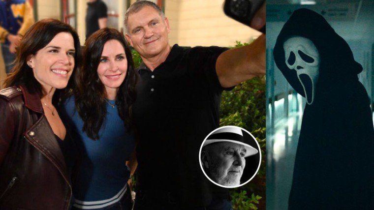 One big change to the Scream reboot is that its original director, Wes Craven (jnset), passed away in 2015 at the age of 76 due to brain tumor. (Left photo) Neve Campbell and Courteney Cox with Scream creator Kevin Williamson.