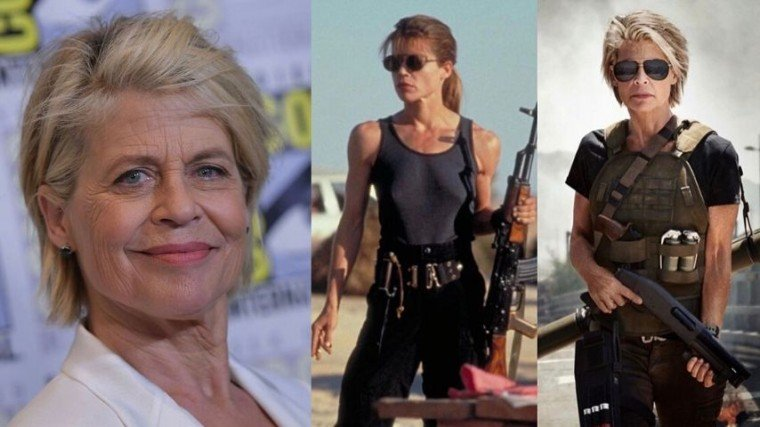 The 63-year old Linda Hamilton originally played the iconic character Sarah Connor in the 1984 cult classic Terminator with Arnold Schwarzenegger.          She returned again as Sarah Connor for Terminator 2: Judgment Day in 1994. Both films were directed by her ex-husband, James Cameron. Now, after 28 years, she's back!
