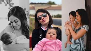 How did celebrity first-time moms spend Mother's Day?