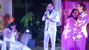 Lotlot, humagulgol sa wedding speech ni Boyet