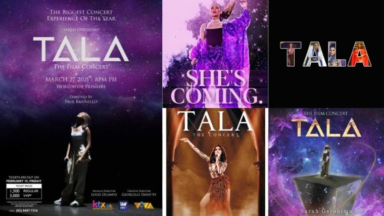 Popsters show their artistic side after the teaser drop of Sarah Geronimo's upcoming online concert Tala The Film Concert!