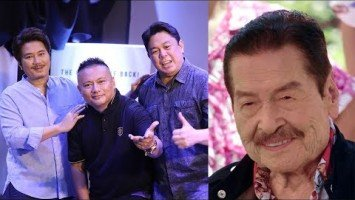 Janno Gibbs, Andrew E., and Dennis Padilla recall happy memories with Eddie Garcia