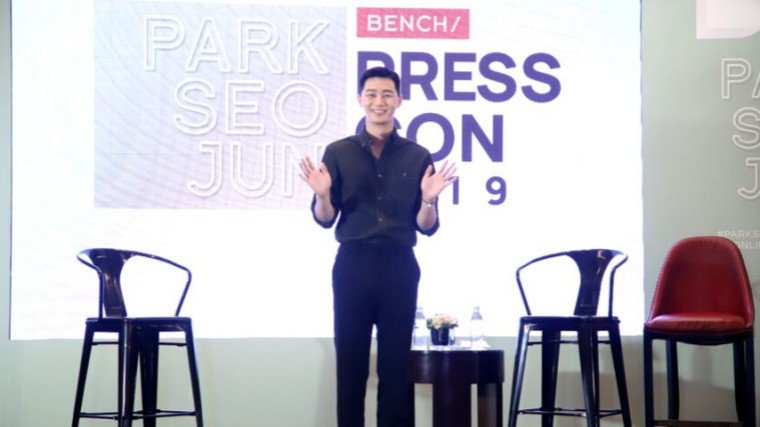 Park Seo Joon shares style tips and describes his personal style during his press conference as Bench's newest global endorser.