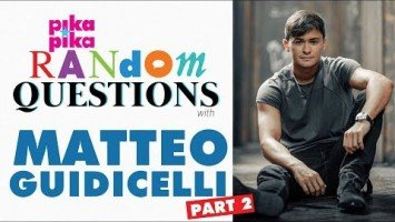 PART 2: Matteo Guidicelli answers Random Questions from Pikapika!