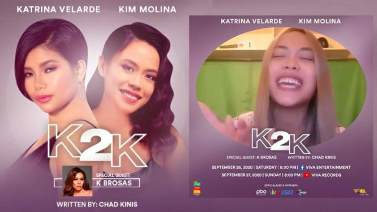 Pika's Pick: Kim Molina and Katrina Velarde's K2K online concert is slated for tonight, 8pm, at the Viva Entertainment Facebook Page