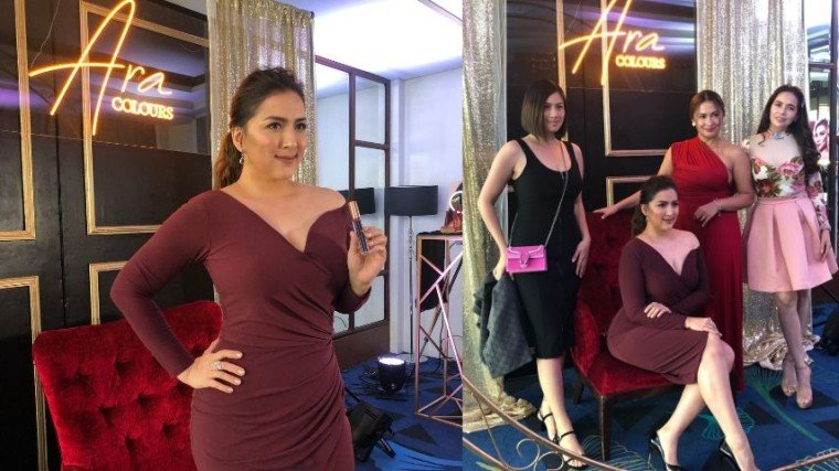 Ara Mina launched her Ara Colours make-up line under the Ever Bilena brand last July 31, 2019 at the Luxent Hotel in Quezon City. Besides some family members, close friends, and business partners, the event was also well-attended by Ara's celebrity friends such as Diana Zubiri, Patricia Javier, Gladys Reyes, Barbie Imperial and more!