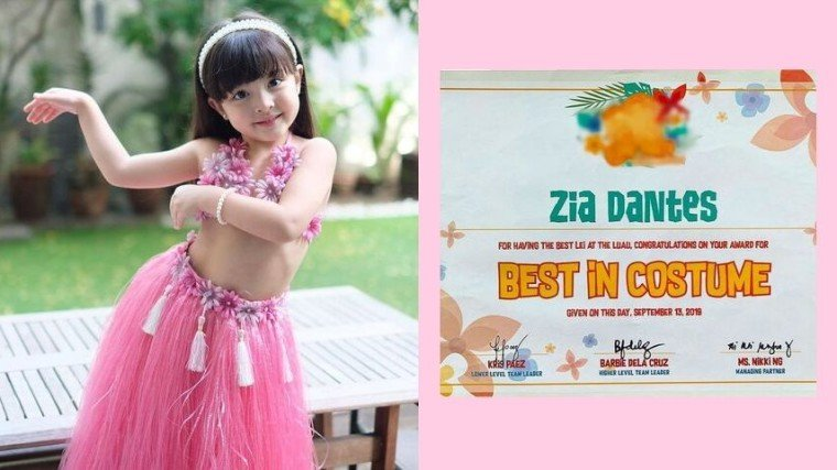 Zia Dantes won best in costume award at school's event for the second time around!! Good Job, Ate Z!