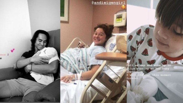 Andi Eigenmann gives birth to her second child with partner Philmar Alipayo.