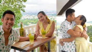 """Married couple Rocco Nacino and Melissa Gohing exchange sweet messages in celebration of their """"bf gf"""" anniversary"""