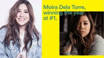 Moira Dela Torre no. 1 on Spotify Philippines