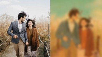 Anne surprises Erwan with a cute illustration by famous Korean artist, Puuung